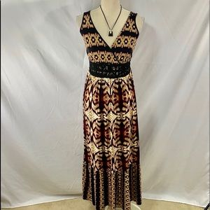 NWT a.n.a. summertime knit maxi with Aztec design
